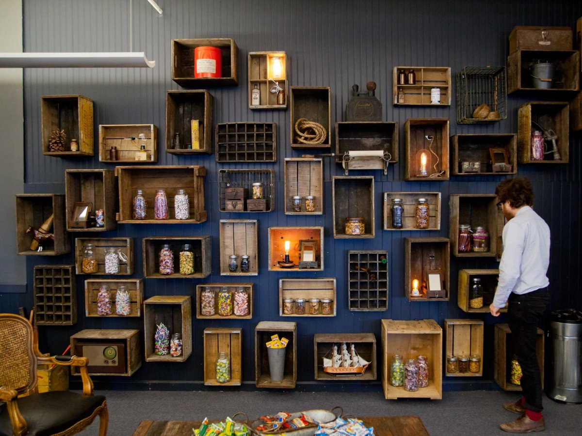 NYC-Fueled-Collective-Office-Wall-Decor-From-Wine-Crates